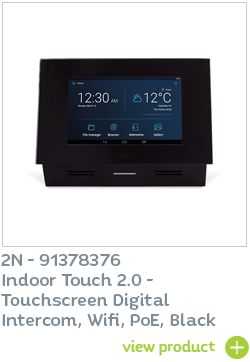 2N Indoor Touch 2.0 Black with Wifi available at CIE Group