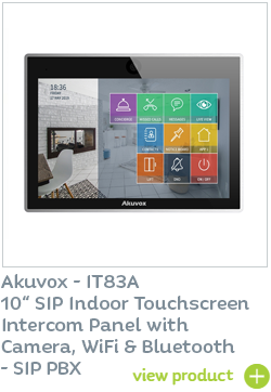 Akuvox IT83A touchscreen door entry panel