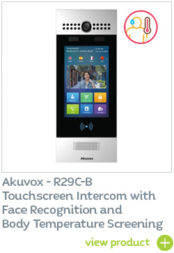 Akuvox R29C-B with face recognition and thermal screening - BUY NOW
