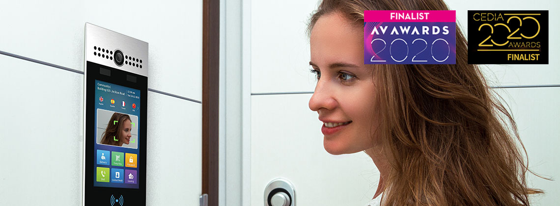 Akuvox R29 Smart hands-free Intercom with contactless Face Recognition helps prevent spread of virus