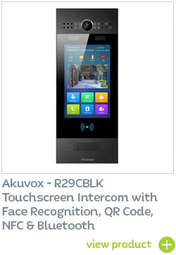 Akuvox R29CBLK Smart IP intercom with face recognition