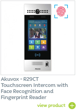 Akuvox R29CT Intercom with fingerprint reader - BUY NOW