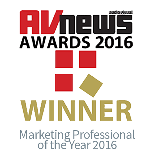 AV News Awards 2016 Marketing Professional  of the Year - CIE AV Solutions