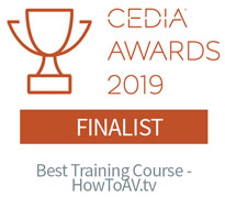Cedia Awards 2019 Best Training Course HowToAV.tv finalist