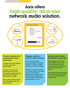 axis offers - high quality, all in one network audio solution