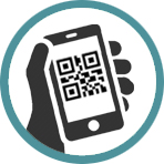 QR Code authentication for access control icon