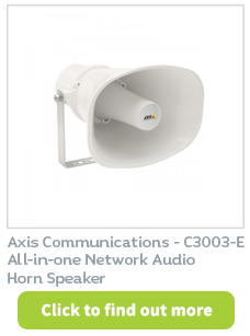AV-over-IP Horn Speaker available at CIE Group