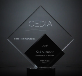CEDIA Awards - CIE win Best Training Course 2019