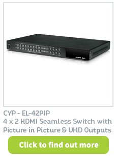 EL-42PIP HDMI Switcher available at CIE Group