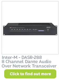 Dante audio over network transceiver available at CIE Group