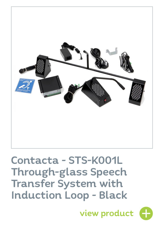 Contacta STS-K001L - Through-glass speech transfer system with induction loop BLACK