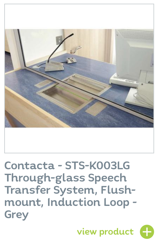 Contacta - STS-K003LG Through-glass Speech Transfer System, Flush-mount, Induction Loop - Grey