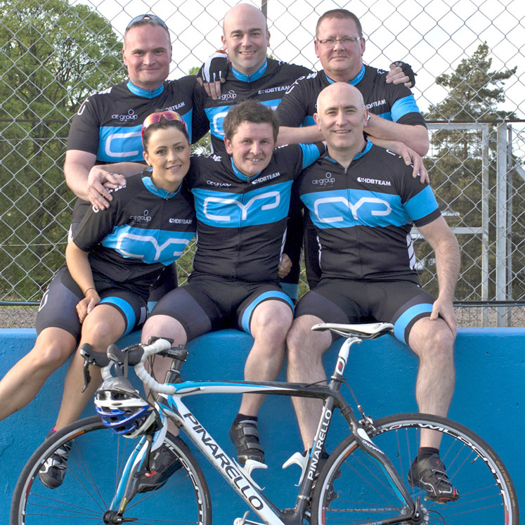 CIE HDBaseTEAM charity cycle challenge