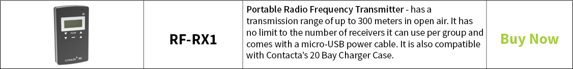 Contacta Portable Radio Frequency Transmitter – RF-TX1