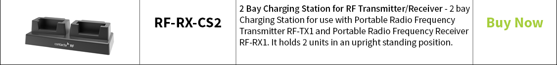 Contacta 2 Bay Charging Station for RF Transmitter/Receiver – RF-RX-CS2