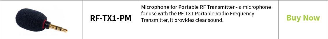 Contacta Microphone for Portable RF Transmitter – RF-TX1-PM