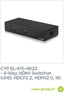 CYP EL-41S-4K22 4-Way HDMI Switcher (UHD, HDCP2.2, HDMI2.0, IR)
