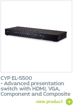 CYP EL-5500 Advanced presentation switch with HDMI, VGA, Component and Composite