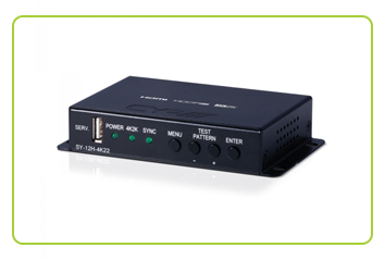 CYP - SY-12H-4K22 HDMI 4K Scaler with dual outputs & HDCP Convertor at CIE