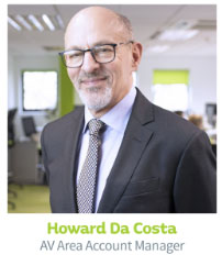 Howard Da Costa, AV Area Account Manager