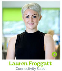 Lauren Froggatt, CIE Connectivity Sales
